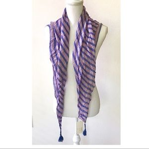 A new day - drape scarf - purple NEW